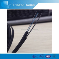 Indoor Flexible 12 Core(Self-support) FTTH Fiber Optic Cable with LSZH Jacket