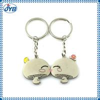 Cute baby kiss brand metal keychain baby kiss