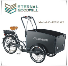 Electric cargo bike with three wheels dirt bike cargo bike/tricycle UB 9032E