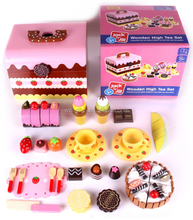 2015 Hot Sale High Quality Kids Funny Pretend Role Play Educational Children Wooden Kitchen Afternoon High Tea Set Toy FT15856
