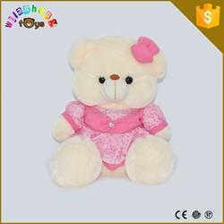 2015 Custom Plush Toy Bear No Minimum Plush Pet Toys For Kids With Clothes