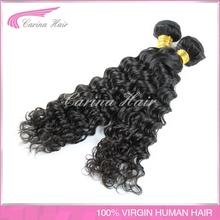 double weft shedding free Brazilian virgin hair weave deep wave nature color 100g/piece