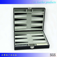 pu leather backgammon box case