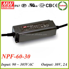 Meanwell dimming led driver 60W NPF-60-30
