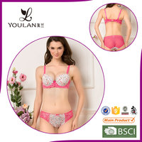 Factory Price Graceful Lovely Girl Elasticity Bra And Panty Set