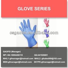 disposable blue nitrile surgical gloves