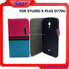 Book Style Leather Wallet Cell Phone Case for BLU STUDIO X PLUS /D770U