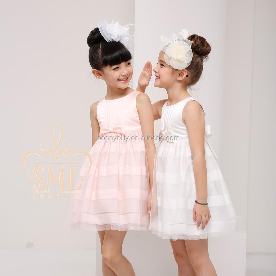 Ultimo disegno vestito ragazza di fiore, organza festa di nozze bambine vestito 3-10 anni usura