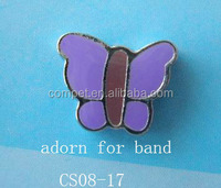 Fashional Butterfly Slide Charms for DIY Leather Dog Collars and Bracelets