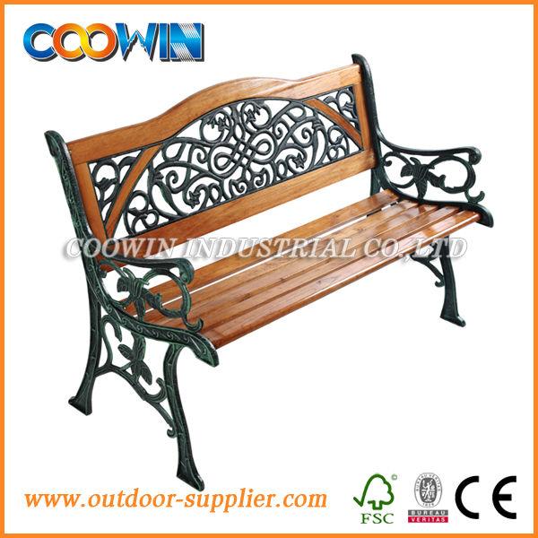 banco de jardim metal:Jardim de metal banco de madeira com back-Cadeiras de madeira-ID do