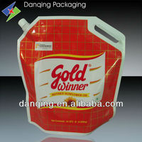 packing cooking oil plastic bag