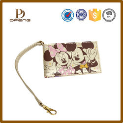 bulk wholesale handled cute pu leather wallet for young girl