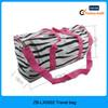 Zebra full printing canvas ladies travel bags, young sports travel bag, sport travel bag