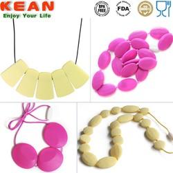 FDA food grade silicone necklace pendants wholesale