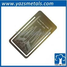 laser engrave metal cheap book mark
