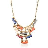 new 2015 hot alloy Bohemia simple luxurious statement necklaces ethnic jewelry necklace for women