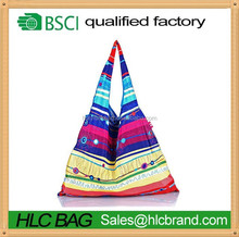 Light to carry fashion durable shopping tote bags yellow&purple HL-PB178