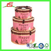 Q1253 Nest Tie Gift Box Craft Storage Custom Papaer Round Packaging Decoration For Wedding Sweet Box