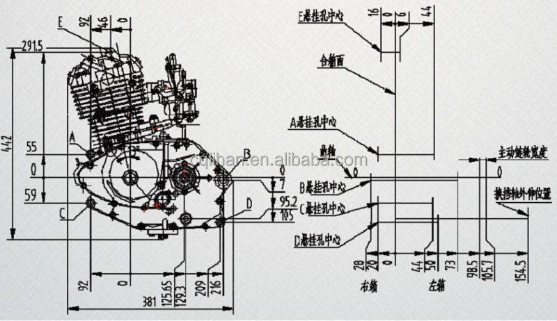 lifan 125cc electric start motorcycle engine high
