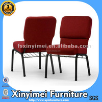 cheap modern stackable church chairs in red on sale made in China