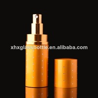 50ml glass bottle aluminium refillable perfume spray atomizer