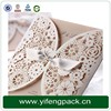 Yifeng packaging factory timeless classic romantic paper laser cut wedding invitation card