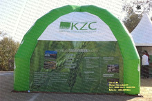 Custom small green inflatable air camping tent