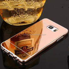 for Samsung Galaxy Note 5 Metal Bumper Plating Mirror Case Rose Gold