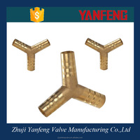 Y barbed hose fitting brass compression fitting for copper pipe