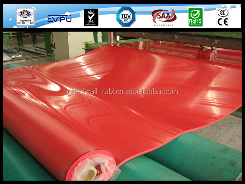 high tensile strength red latex rubber sheet