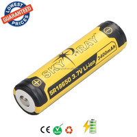 Original SKYRAY SR18650 3.7V 3400mAh Lithium Li-ion Rechargeable Protected Friendly Durable Battery for Flashlight Device