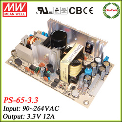 Meanwell switching model power supply 3.3v 12a PS-65-3.3