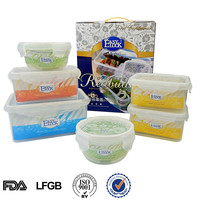 Airtight vacuum plastic food storage preserving container box set