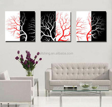 Nice canvas wall pictures of the trees and rose flowers best selling