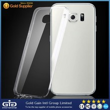 Super transparent ultra thin tpu phone cover case for Samsung for galaxy S6