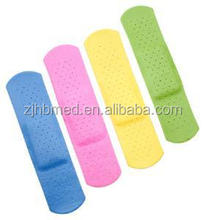 Five colors band aid colorful for kids with non allergenic glue