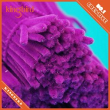 Purple chenille craft supplier in china