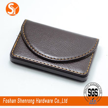 luxury business leather card case /holder with different colors with comfortable hand feeling