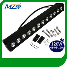 Top Selling High Lumen 120W Outdoor CREE LED Strip Light Bars High Power Solar Spot / Flood Flashing Lights