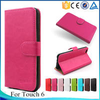 New product for Ipod Touch 6 flip case, wallet pu leather cover case for Apple ITouch 6