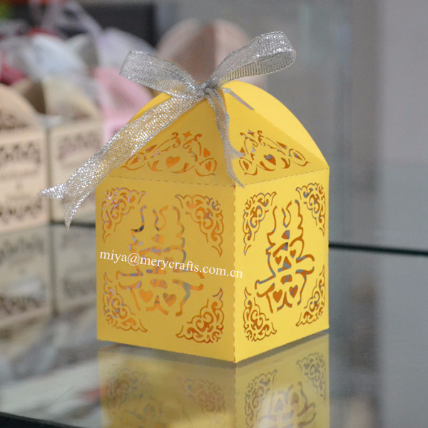 Chinese Wedding Gift Guide : Chinese lemon yellow double happiness decoration/wedding gift/favor ...