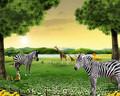 Alta qualidade animal selvagem pintura a óleo cenário natural grama e cavalo