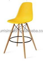 2015 new design KD packing plastic chair,high back bar chair,leisure chair