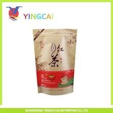 Brown kraft paper bag for tea packaging
