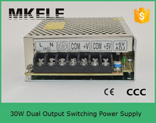 D-30A 30W dual output led driver 12v 1a 5v 4a power suply 12v 5v 12v 1a power adapter power supply 5v 12v