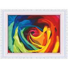2015 Hot sale colorful rose oil painting flower diy painting by numbers