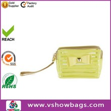 transparent toilet bag PU leather tote women rubber toiletry bag