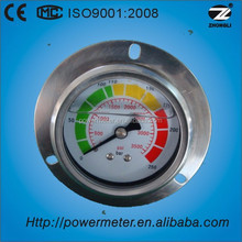 250 bar &3500 psi hydraulic pressure gauge for pipe with stainless steel flange