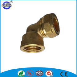 1/2 inch sanitary water supply elbow compression plumbing brass fitting