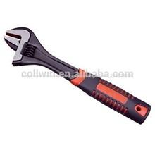 ajustable llave de acabado en negro pesado deber de la mandíbula